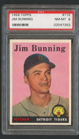 1958 Topps Jim Bunning #115 PSA 8 Near Mint