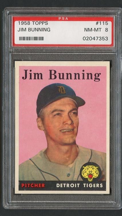 1958 Topps Jim Bunning #115 PSA 8 Near Mint