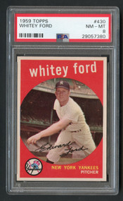 1959 Topps Whitey Ford #430 HOF PSA 8-Centered & High-End