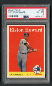 1958 Topps Elston Howard #275 PSA 8 Near Mint