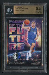 2018 Hoops Faces of Future Luka Doncic Rookie RC #3 BGS 9.5 Gem Mint