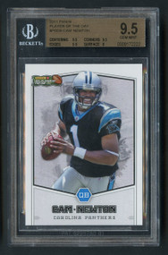 2011 Panini Player of the Week Cam Newton Rookie RC BGS 9.5 Gem Mint