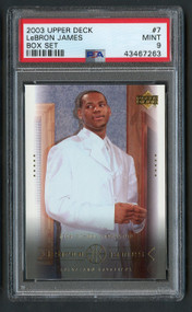 2003 Upper Deck Box Lebron James Rookie RC #7 PSA 9 Mint