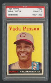 1958 Topps Vada Pinson PSA 8
