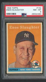 1958 Topps Enos Slaughter #142 PSA 8-Centered