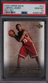 2003 Upper Deck Box Lebron James Rookie RC #14 PSA 10 Gem Mint