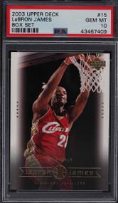 2003 Upper Deck Box Lebron James Rookie RC #15 PSA 10 Gem Mint