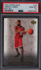 2003 Upper Deck Box Lebron James RC Rookie #16 PSA 10 Gem Mint