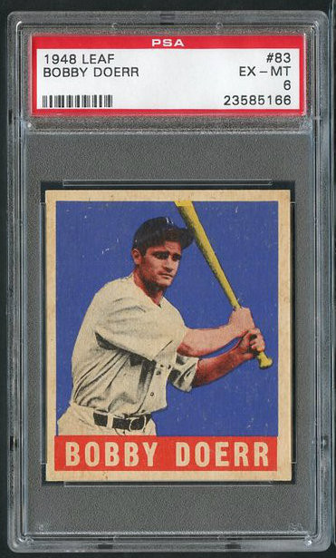 1948 Leaf #63 Bobby Doerr HOF PSA 6 - Centered