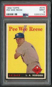 Pee Wee Reese 1958 Topps #375 PSA 9 Mint