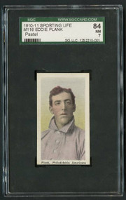 Eddie Plank 1911 Sporting Life M116 Pastel SGC 84/7 - Centered