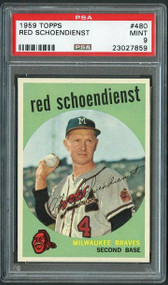 Red Schoendienst 1958 Topps #480 Card - PSA 9 MINT