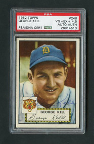 Hall of Famer George Kell Autographed 1952 Topps.