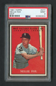 1961 Topps #477  Nellie Fox MVP - PSA 9 Mint