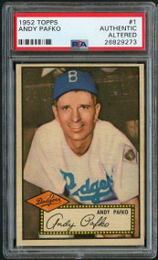 1952 Topps #1 Andy Pafko PSA - Altered