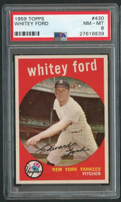 1959 Topps Whitey Ford #430 PSA 8 - Centered