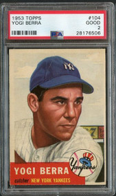 1953 Topps Yogi Berra PSA 2 - Centered