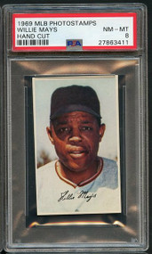 1969 MLB PhotoStamps Willie Mays HOF PSA 8
