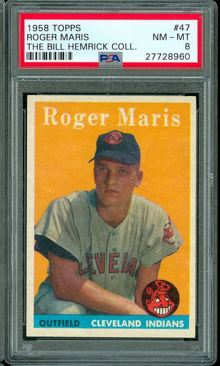 1958 Topps Roger Maris RC Rookie #47 PSA 8 - Centered