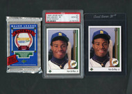 2*1989 Upper Deck Ken Griffey Jr. RC incl. PSA 10 w/Raw Griffey & Pack