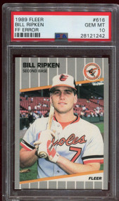 1989 Fleer Bill Ripken FF Error PSA 10 Gem Mint