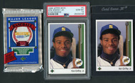 2*1989 Upper Deck Ken Griffey Jr. RC Rookie Lot incl. PSA 10 & Pack