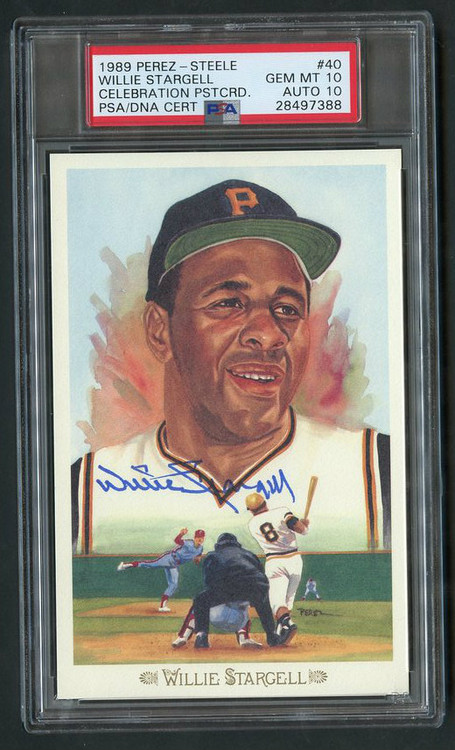 1989 Perez-Steele Willie Stargell Auto PSA 10 Gem Mint