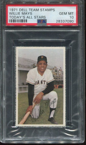 1971 Dell Team Stamps Willie Mays PSA 10 Gem Mint