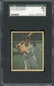 1951 Berk Ross Yogi Berra HOF Yankees SGC 7 - Centered