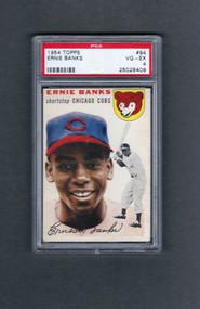 1954 Topps Ernie Banks Rookie RC #94 HOF PSA 4