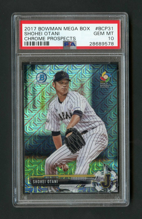 2017 Bowman Mega Shohei Otani Chrome Prospects RC Rookie PSA 10 Gem Mint
