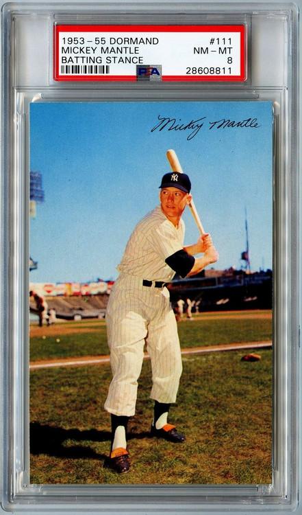 1953-1955 Dormand Mickey Mantle #111 PSA 8