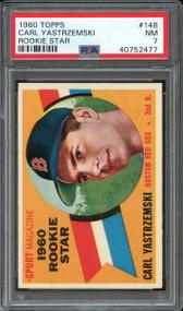 1960 TOPPS CARL YASTRZEMSKI RC Rookie #148 HOF PSA NM 7