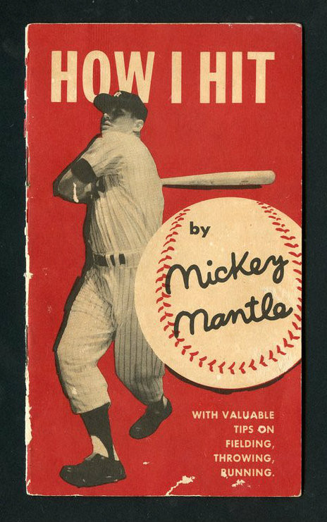 """Rare 1956 """"How I Hit"""" By Mickey Mantle Original 13 pg. Book"""