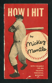 "Rare 1956 ""How I Hit"" By Mickey Mantle Original 13 pg. Book"