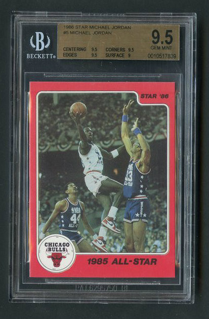 1986 Star Michael Jordan RC Rookie #5 HOF BGS 9.5 Gem Mint