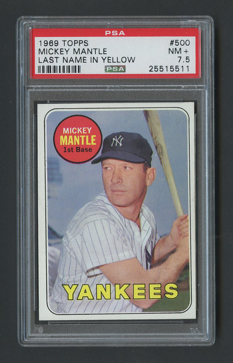 1969 Topps Mickey Mantle #500 PSA 7.5