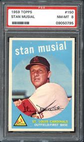 1959 Topps Stan Musial #150 HOF PSA 8 NM/Mint