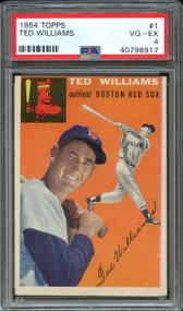 1954 Topps Ted Williams #1 HOF PSA 4 - Centered