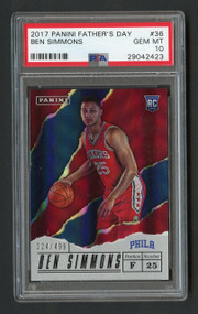 2017 Father's Day Ben Simmons RC #36 Rare /499 PSA 10 Gem Mint