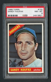 1966 Topps Sandy Koufax #100 HOF PSA 8 - Centered & High End