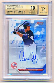 2016 Bowman's Best Aaron Judge Refractor Auto Rookie Rc BGS 10/10 Pristine