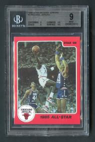 1986 Star Michael Jordan #5 RC Rookie HOF BGS 9 Mint