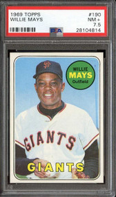 1969 Topps Willie Mays #190 HOF PSA 7.5 - Centered & High End