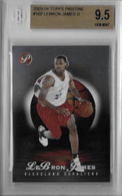 2003 Topps Pristine Lebron James Rookie RC #102 BGS 9.5 Gem Mint /999