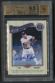 2008 UD Derek Jeter Chronicles Autographs True 1/1 BGS 9.5 Gem Mint