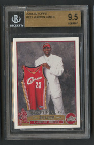 2003 Topps Lebron James RC Rookie #221 BGS 9.5 Gem Mint
