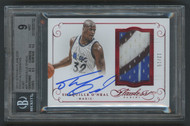 2014 Flawless Shaquille O'Neal 3-Color Patch Auto /15 BGS 9 Mint w/10 Auto