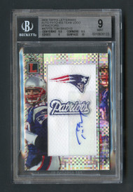2008 TOPPS LETTERMAN Tom Brady Auto XFRACTOR PATCH 1/3 BGS 9 with 10 Auto