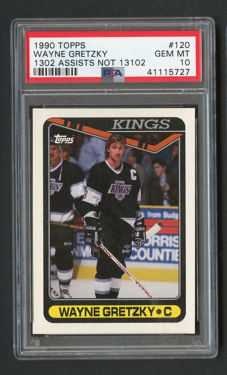 1990 Topps Wayne Gretzky #120 Error PSA 10 Gem Mint